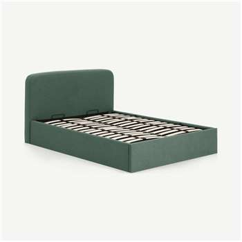 Besley Double Bed with Ottoman Storage, Bay Green (H96 x W151 x D211cm)