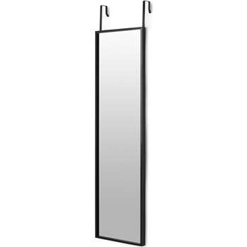 Bex Over The Door Full Length Mirror, Black (H125 x W35 x D3cm)