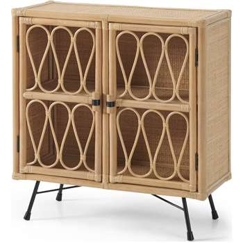 Beyka Compact Sideboard, Natural Cane (H86 x W80 x D35cm)