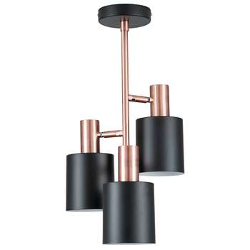 Biba 3 Light Ceiling Light Antique Copper (H70.5 x W30 x D30cm)