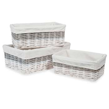 BICOLORE Rectangular Woven Baskets To (16 x 39cm)