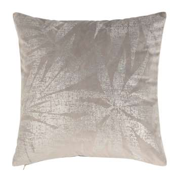 BIENNE - Grey Cushion Cover with Silver Print (H40 x W40cm)