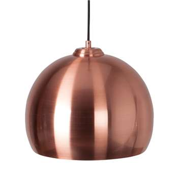 ZUIVER Big Glow Ceiling Light in Metallic Copper (Diameter 27cm)
