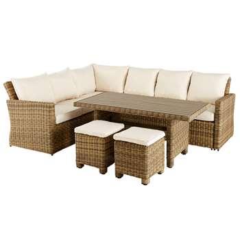 BILBAO Resin wicker patio set (84 x 255cm)
