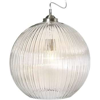 Billie Ball Diner Pendant Light, Clear (45 x 45cm)