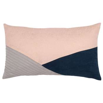 BILLIE - Blue, Pink and Grey Cotton Cushion Cover (H30 x W50cm)