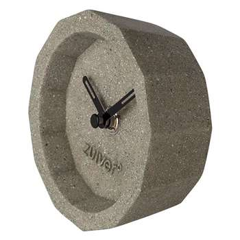 Bink Time Desk Clock in Concrete Finish (Diameter 10.5cm)