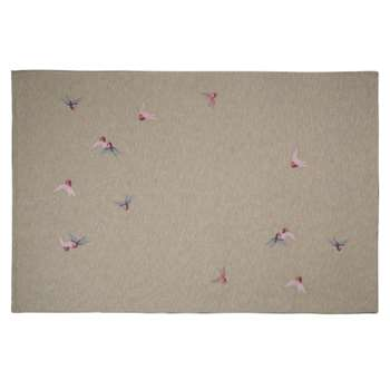 Birds Embroidered Rug (H120 x W180cm)