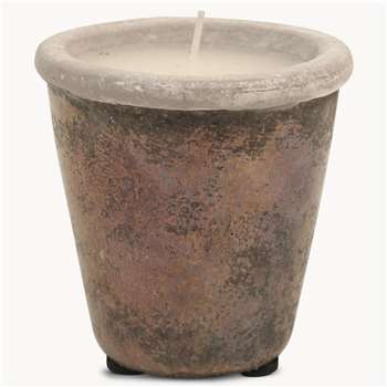 Birkdale Stone Candle in Bronze Finish (H11 x W11 x D11cm)