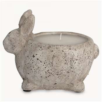 Birkdale Stone Rabbit Candle Pot (15 x 11.5cm)