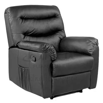 Birlea Furniture Regency PU Leather Recliner Chair in Black