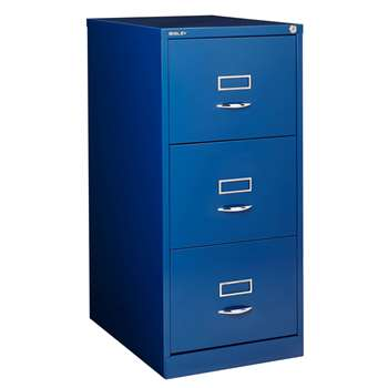Bisley 3 Drawer Filing Cabinet, Ink (H101.5 x W47 x D62cm)