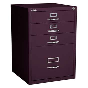 Bisley Combi Filing Cabinet, Cassis (H68.8 x W47.7 x D47.7cm)