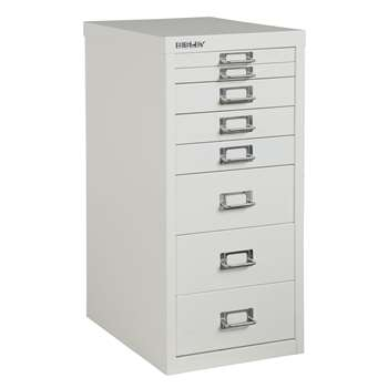 Bisley Non-Locking Under Desk Mutidrawer, Chalk (H61 x W28 x D38cm)