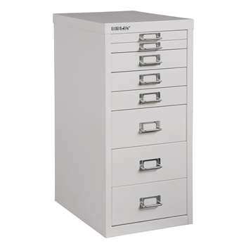 Bisley Non-Locking Under Desk Mutidrawer, Smoke (H61 x W28 x D38cm)