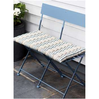Bistro Bench Cushion in Clay Stripe - Cotton (38 x 78cm)