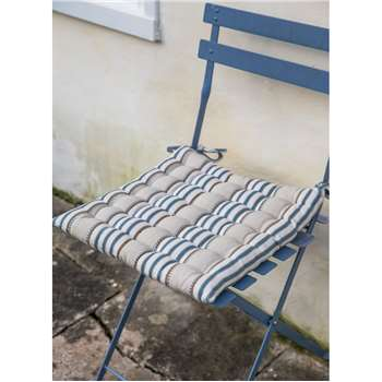 Bistro Seat Pad in Clay Stripe - Cotton (40 x 40cm)