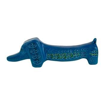 Bitossi Ceramiche - Rimini Blu Basset Hound Figure (Width 24cm)