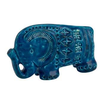 Bitossi Ceramiche - Rimini Blu Elephant Figure (W15cm)