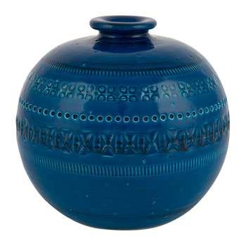 Bitossi Ceramiche - Rimini Blu Round Vase (18 x 18cm)
