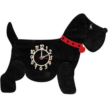 Black Dog Personalised Wooden Pendulum Clock (40 x 39cm)