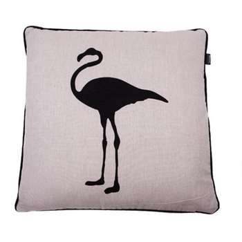 Black Flamingo Cushion Cover (50 x 50cm)