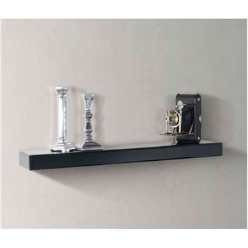 Black Glass Floating Wall Shelf (6 x 90cm)