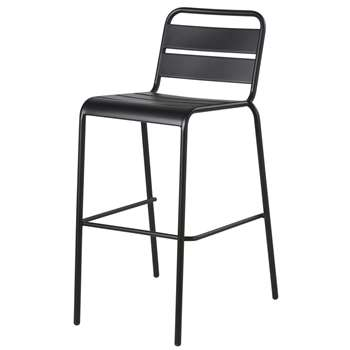 Black Metal Garden Bar Chair Batignolles (H52 x W101 x D62cm)