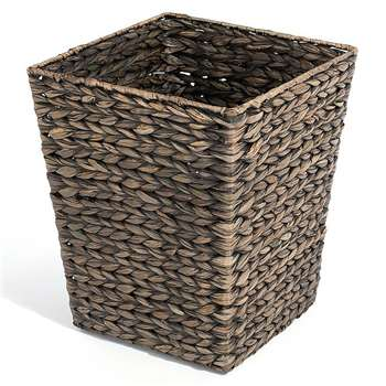 Black Water Hyacinth Wastepaper Bin (30 x 25cm)