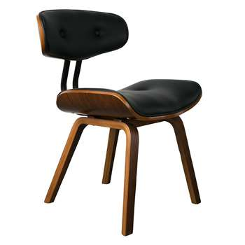 Dutchbone Blackwood Retro Lounge & Desk Chair in Walnut (H78 x W51 x D55.5cm)