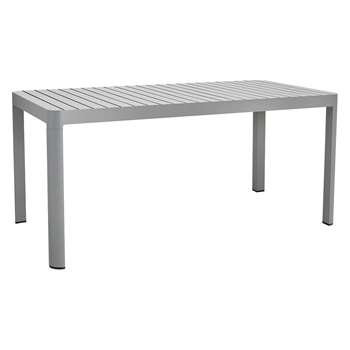 Blake 6 Seater Grey Aluminium Garden Dining Table (H74 x W160 x D80cm)