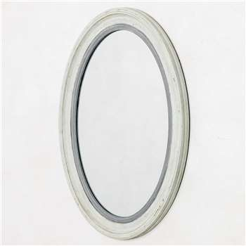 Blake Oval Grey Mirror (H70 x W50cm)