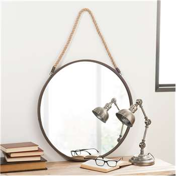 BLAKE RUSTY metal mirror, D 60cm
