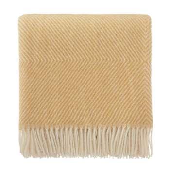 Blanket Gotland, Mustard & Cream (H140 x W220cm)