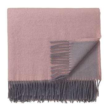 Blanket Jonava, Powder Pink & Grey (H130 x W175cm)