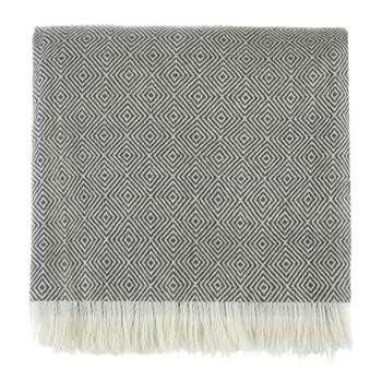 Uyuni Cashmere Wool Blanket, Charcoal (140 x 200cm)