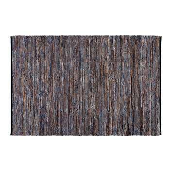 BLOCALIA cotton rug with blue cement tile motifs (160 x 230cm)