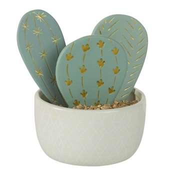 BLOG Ceramic Cactus Figurine (14 x 10cm)
