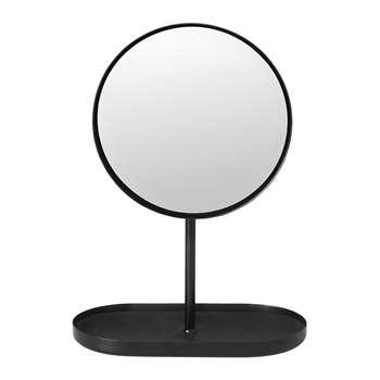 Blomus - Modo Vanity Mirror - Black (H28 x W20 x D10cm)