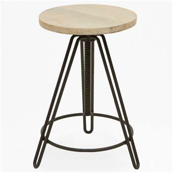 Blonde Industrial Bar Stool (H83 x W40 x D40cm)