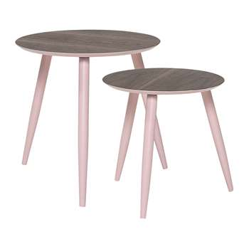 Bloomingville - Asta Rose Coffee Table - Set of 2 (48 x 48cm)