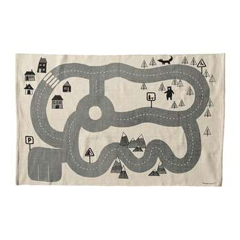 Bloomingville - Children's Road Map Cotton Rug (H100 x W150cm)