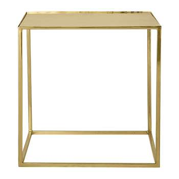 Bloomingville - Cube Side Table - Gold (45 x 45cm)