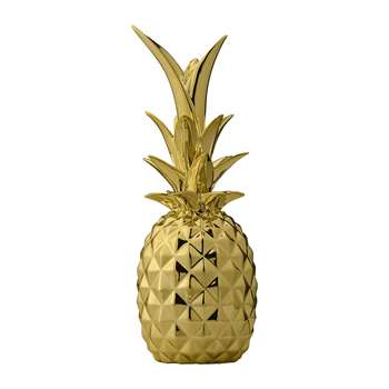 Bloomingville - Decorative Pineapple Ornament - Gold (24 x 9cm)