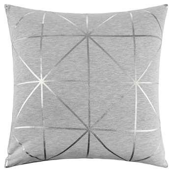 Bloomingville - Diagonal Print Cushion - Silver (45 x 45cm)