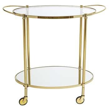 Bloomingville - Fine Bar Side Table - Gold (H81 x W86 x D46cm)