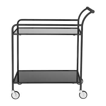 Bloomingville - Fine Bar Trolley Table - Black (H80 x W73 x D45cm)