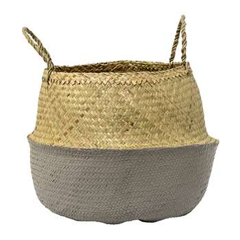 Bloomingville - Grey Seagrass Basket - Large (H34 x W50 x D50cm)
