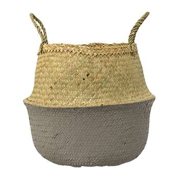 Bloomingville - Grey Seagrass Basket - Small (H32 x W35 x D35cm)