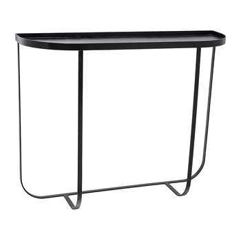 Bloomingville - Harper Console Table - Black (H80 x W100 x D30cm)